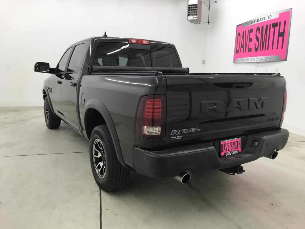 PRE-OWNED 2017 RAM 1500 REBEL CREW CAB SHORT BOX 4WD